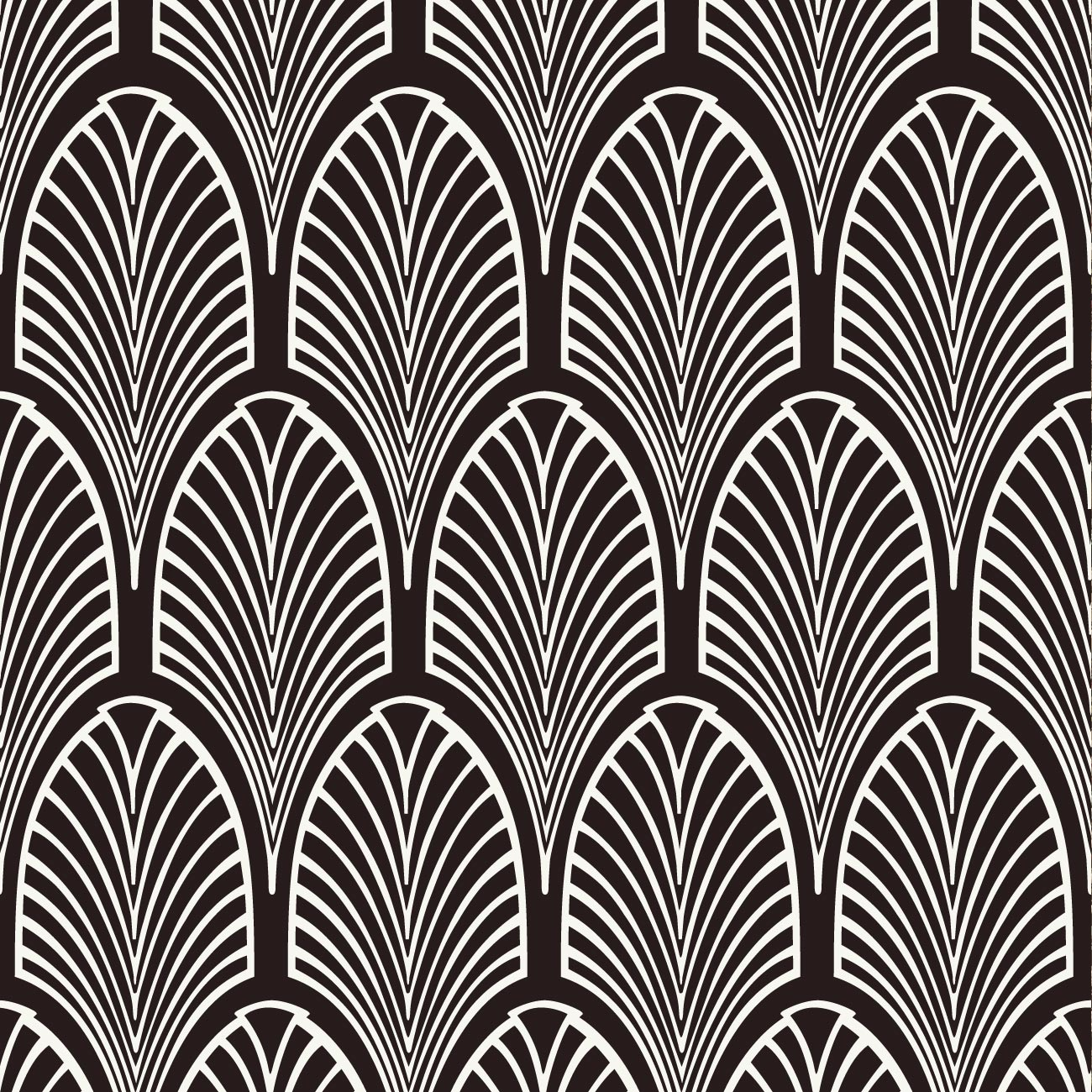 Deco Wallpaper Black And White The