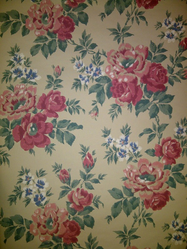 Cabbage Rose Wallpaper Designs