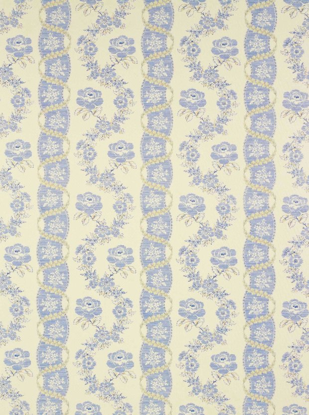 Celeste Fabric Traditional Edwardian Stripe Victorian