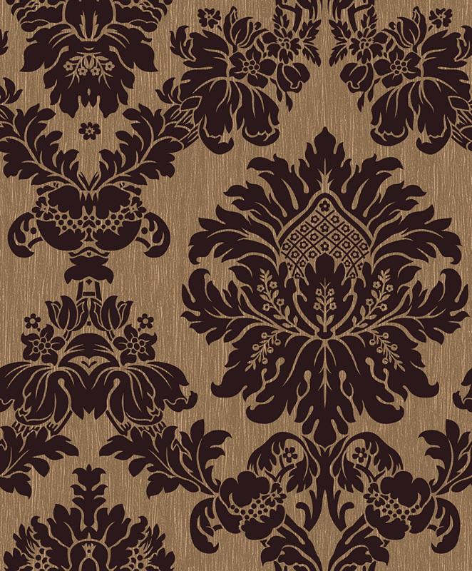Flock traditional flock damask bars pubs victorian for Flock wallpaper