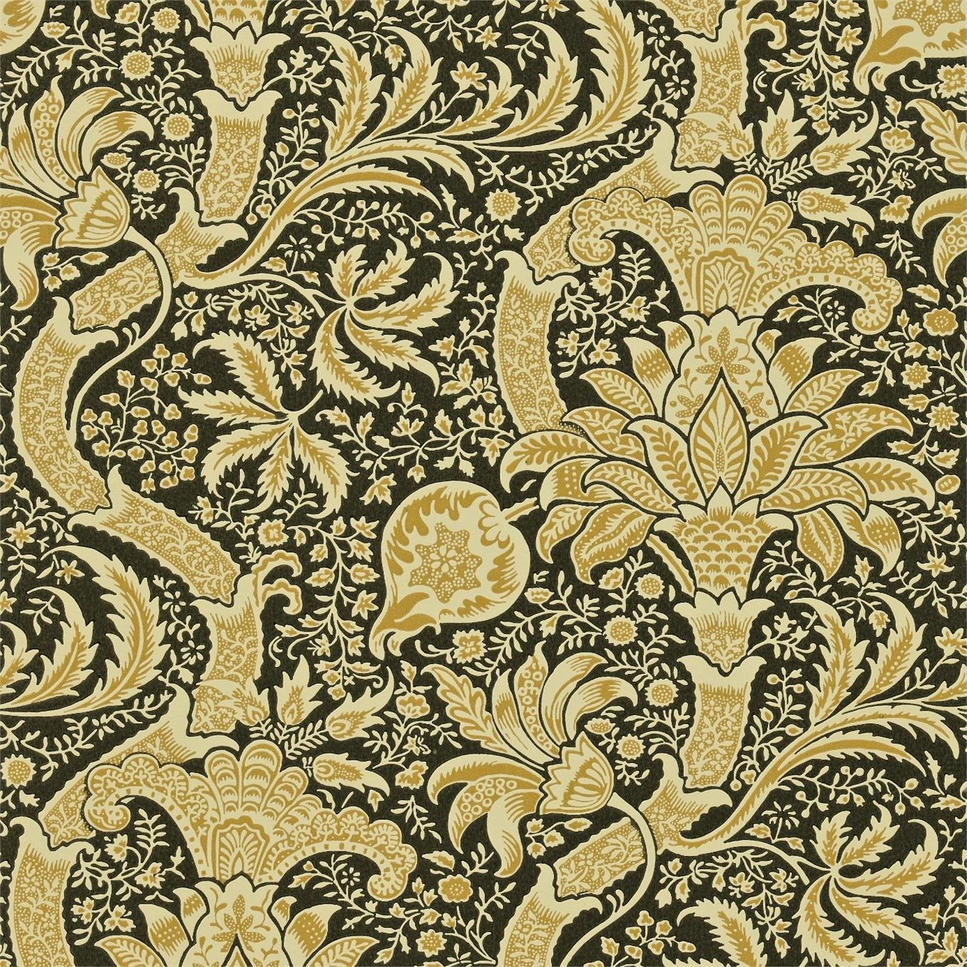 Arts and Crafts Wallpaper | Chameleon Collection