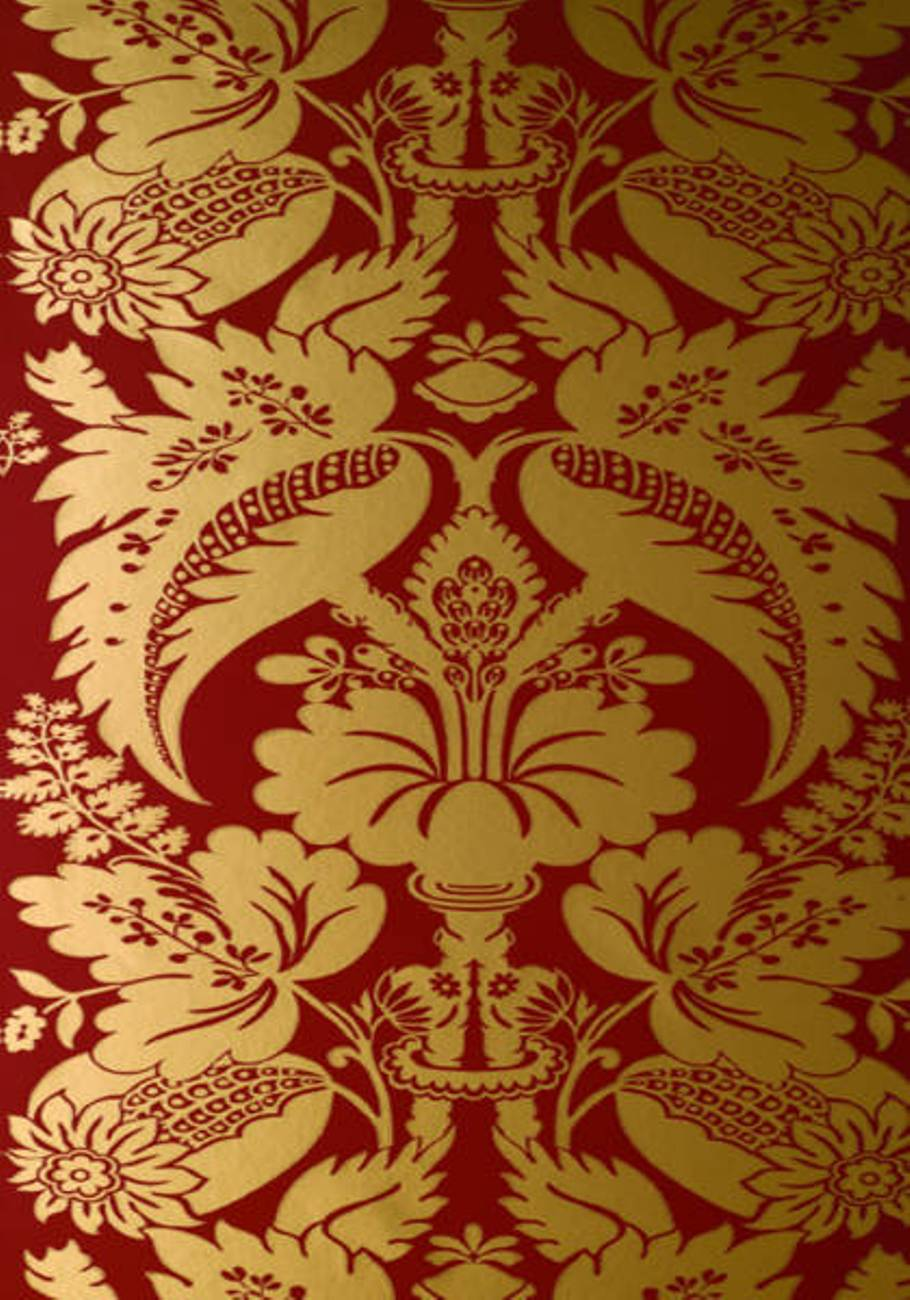 Metalic Damask Bars Pubs Damask Traditional Anna French